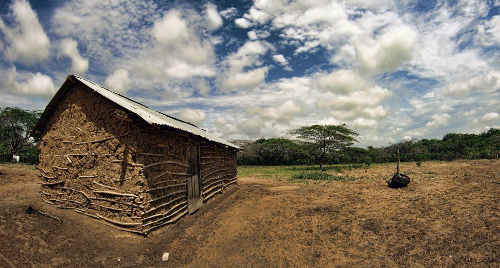 Rancheria Desierto de La Guajira, Colombia. Lugar de nacimiento de las Mochilas Wayuu