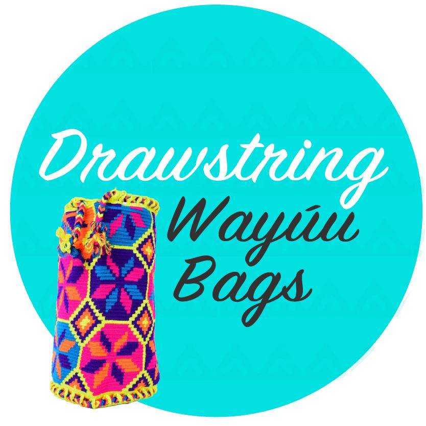 Drawstring Wayuu Bags