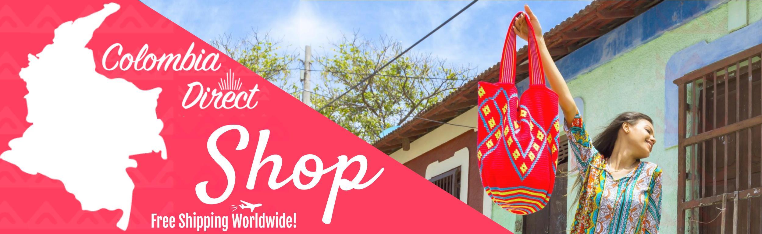 Colombia Dorect banner Mochilas Wayuu para venta en colombia