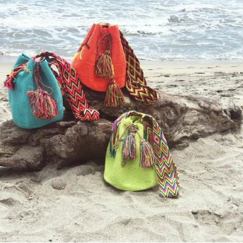 solid color mochilas wayuu bag solids